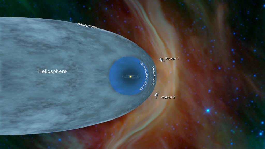 Voyager 2 ilumina la frontera del espacio interestelar.