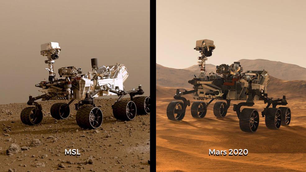 Dos rovers para circular nuevamente sobre Marte: Curiosity y Mars 2020.