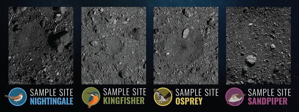 OSIRIS-REx de la NASA en medio de la selección del sitio.