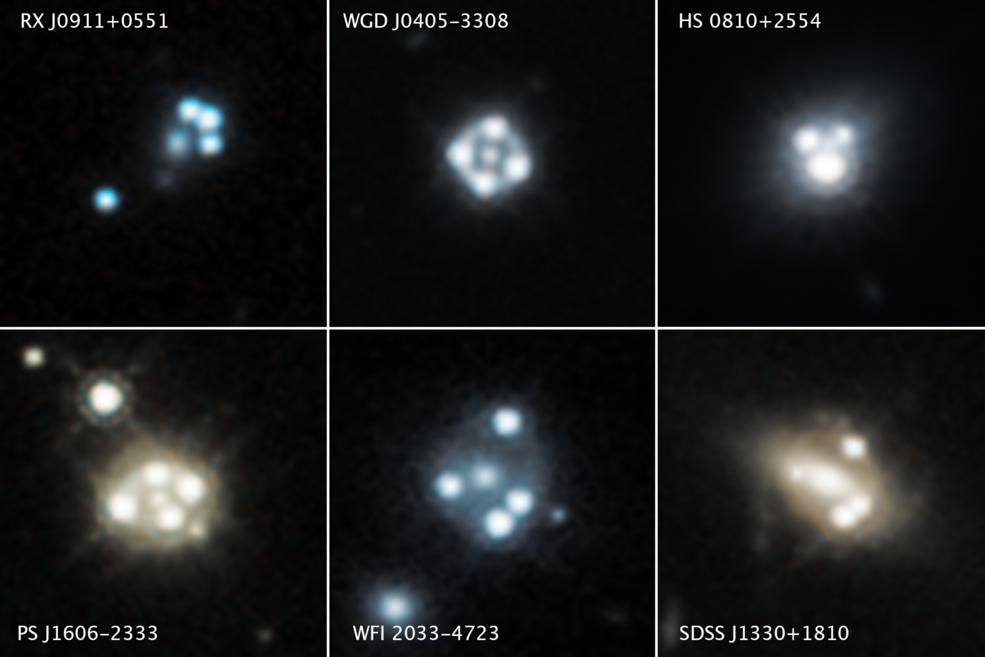 Hubble detecta los grupos de materia oscura más pequeños conocidos.