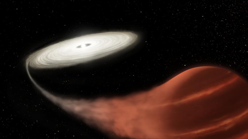 La misión Kepler de la NASA testifica que el sistema estelar de vampiros está experimentando un súper estallido.