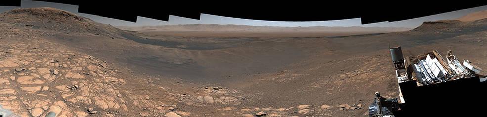 El Rover Curiosity de la NASA en Marte toma su panorámica de mayor resolución hasta la fecha.