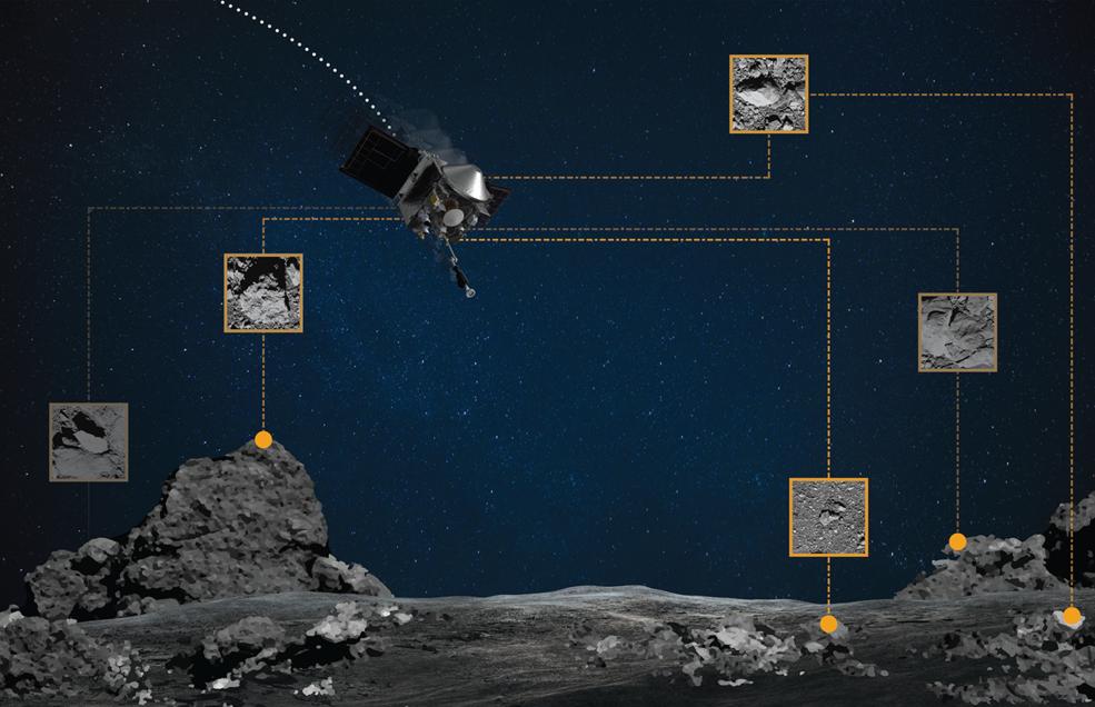 Las rocas de Bennu brillan como balizas para OSIRIS-REx de la NASA.