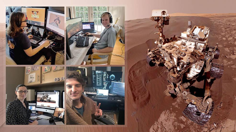 Curiosity, de la NASA, sigue rodando mientras el equipo opera el móvil desde casa.