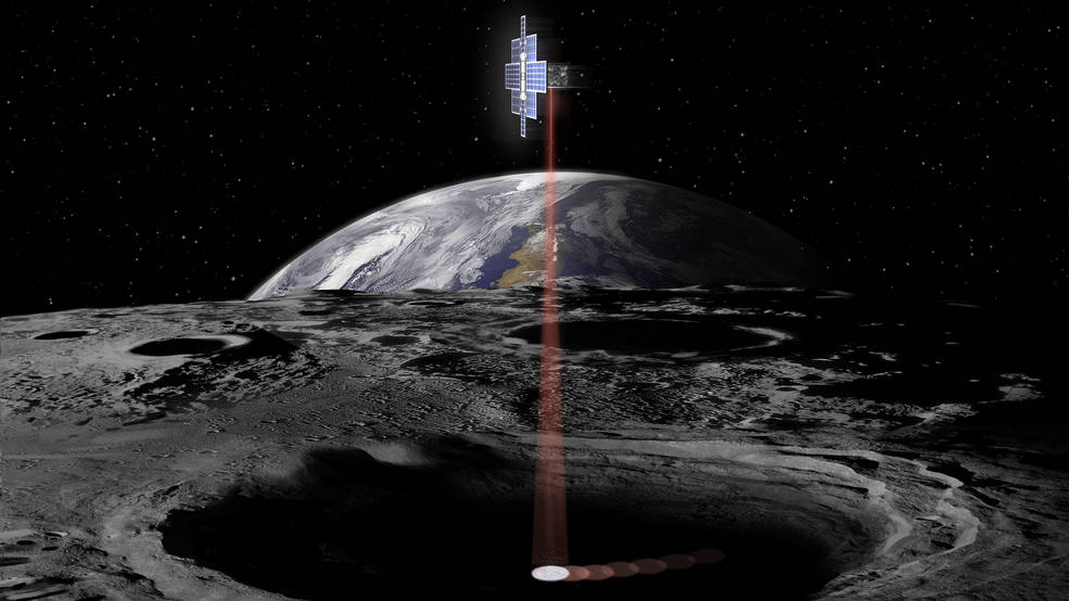 NASA CubeSat alumbrará con una luz láser en los cráteres más oscuros de la Luna.
