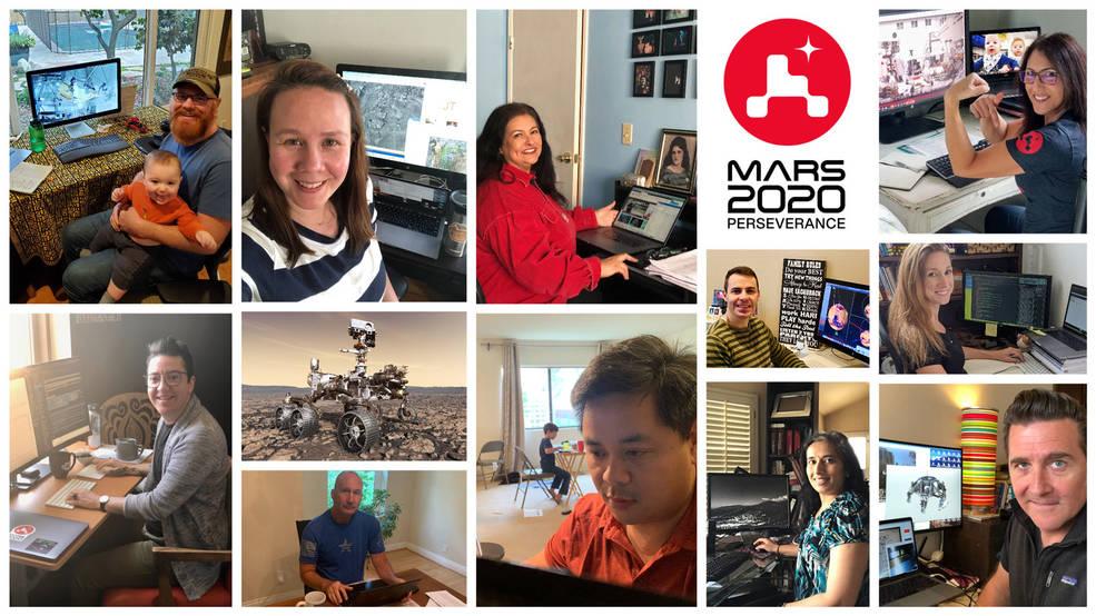 Cómo el equipo de Mars Perseverance de la NASA se ha adaptado para trabajar en tiempos de coronavirus.