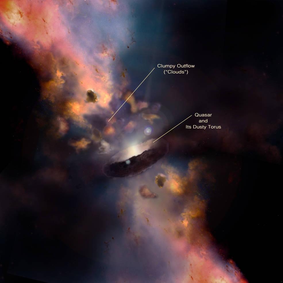 Por qué se forman nubes cerca de los agujeros negros.