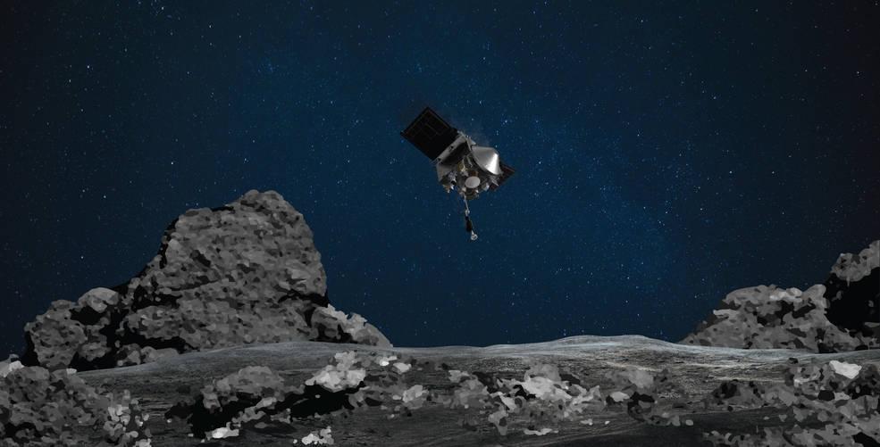 OSIRIS-REx de la NASA listo para aterrizar en el asteroide Bennu.
