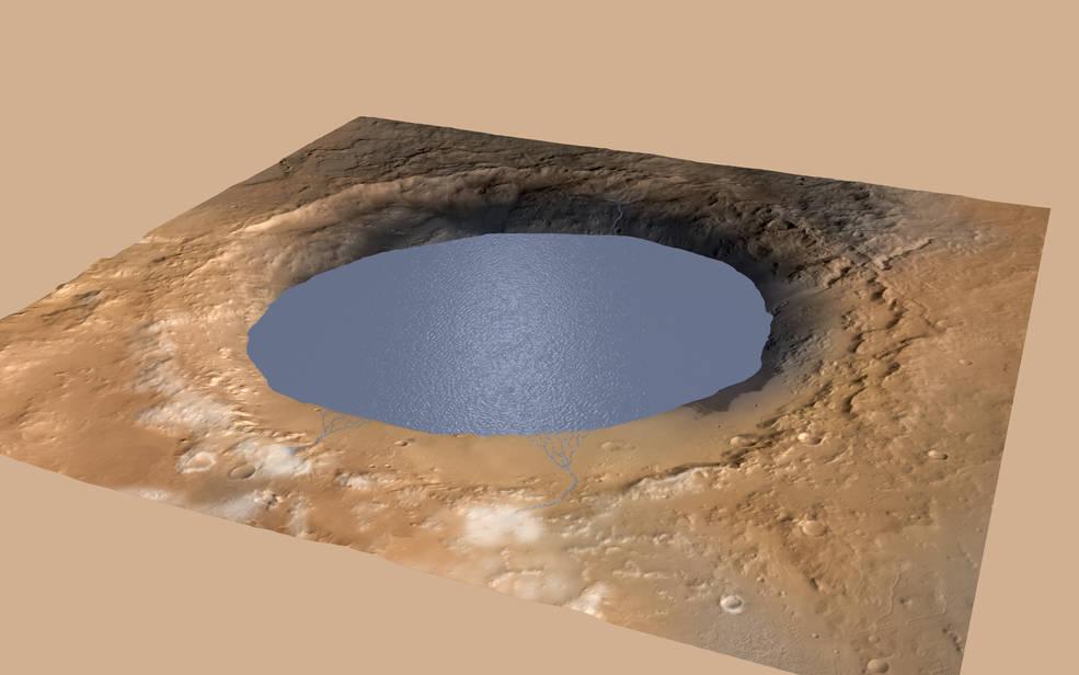 El Rover Curiosity  de la NASA encuentra pistas enterradas en las rocas, sobre el frío y antiguo Marte.