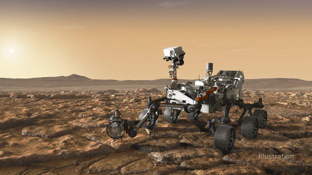 El detective a bordo del Rover Perseverance de la NASA.