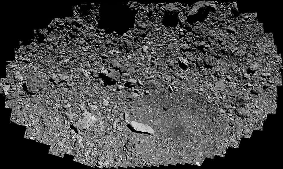 OSIRIS-REx sobre el sitio de muestra Osprey.