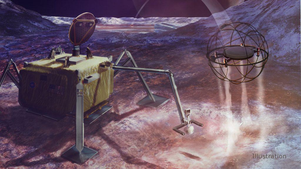 El robot saltador que podría explorar las lunas heladas del Sistema Solar.