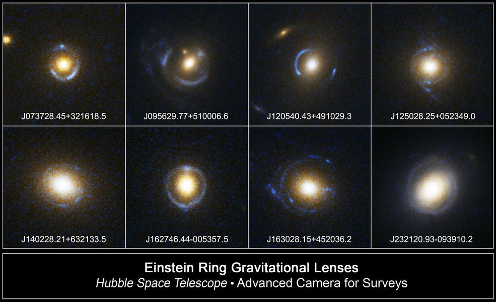 """Los astrónomos vuelven a visitar el primer """"anillo de Einstein"""" en los datos de archivo."""