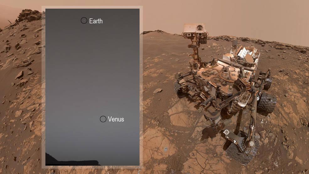 Mientras observa las estrellas en Marte, el Rover Curiosity de la NASA, observa la Tierra y Venus.