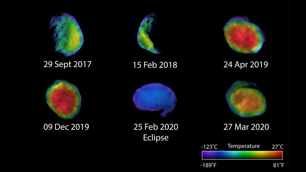 Tres nuevas vistas de Phobos, la luna de Marte.