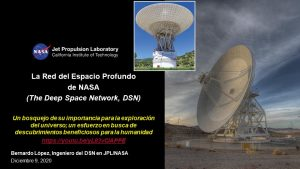CONFERENCIA ONLINE: La Red de Espacio Profundo de NASA.