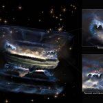 """Los agujeros negros supermasivos pueden generar """"tsunamis"""" en el escape de gas."""